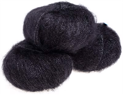 Nyhed - Silk Mohair Shine Very Black - 5000