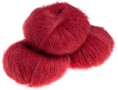 Nyhed - Silk Mohair Raspberry - 6026