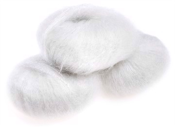 Silk Mohair Shine White - 6027