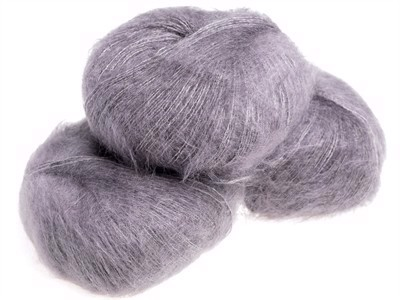Nyhed - Silk Mohair Stone Grey - 8945