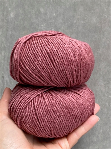 Nyhed - Supersoft Extrafine Merino 100% - Dark Rose - 14445
