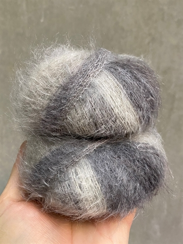 Silk Mohair - Grey Mix - 9206