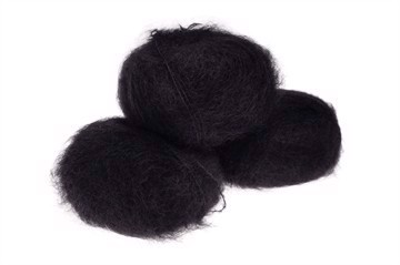 Silk Mohair Very Black