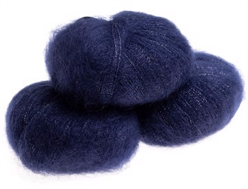 Silk Mohair Shine Navy  -6035